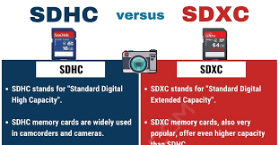 SDHC and SDXC cards