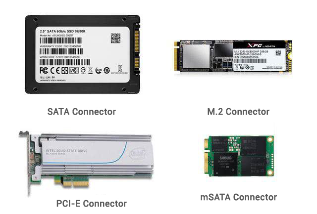 different SSD flash memory particles