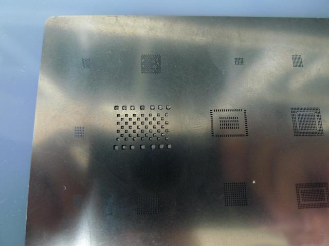solder joints on the flash memory